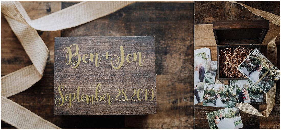 Wisconsin Local Small Business - Husband & Wife Creative Duo - Custom Wood Photo Boxes - Wedding Gifts - Custom Photo Gift and Mini Prints