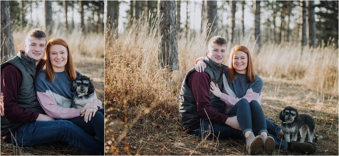 Wisconsin Winter Woodland Engagement Session - Waukesha Wedding Photographer