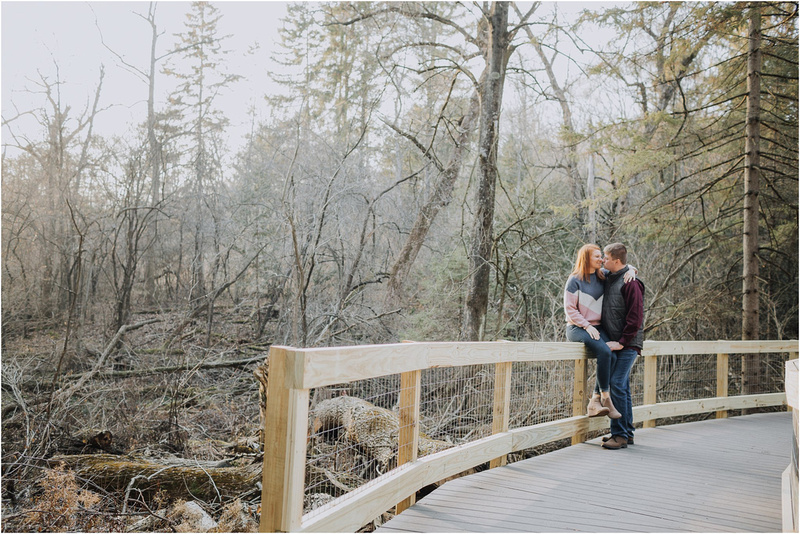 Wisconsin Winter Engagement Session at Retzer Nature Center - Winter Wedding - Wisconsin Winter Wedding Photographer