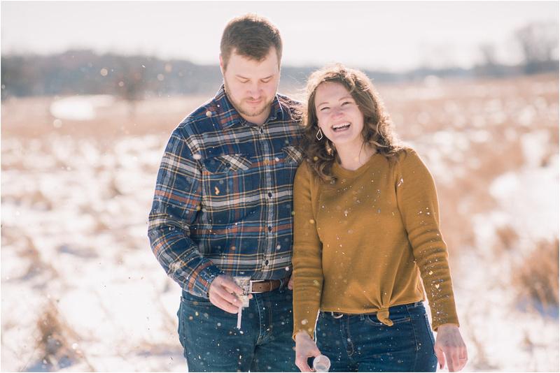 Celebrating 2020 New Year's Engagement Session at Lapham Peak - Delafield Wedding Photographer