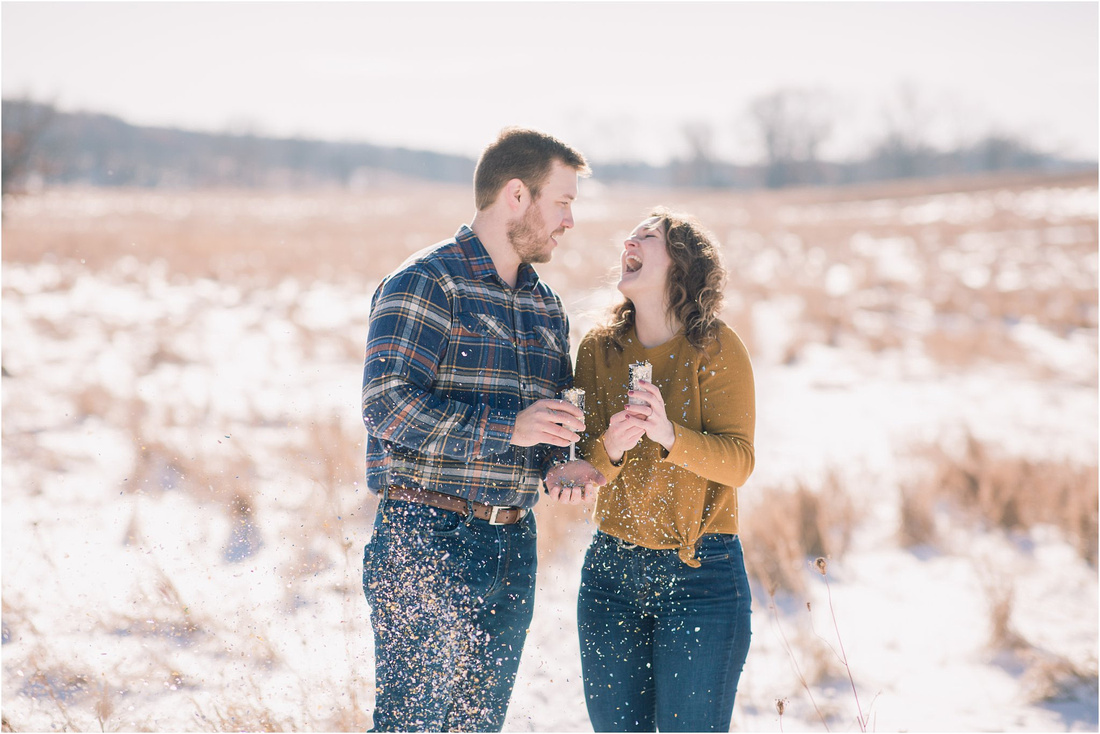 Delafield New Year's Engagement Session