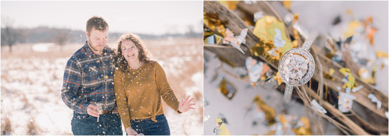 on - Adventurous Couples Session - Memory Lane Photography - Winter Snowy Engagement Session - Snowy WInter Photography Ideas