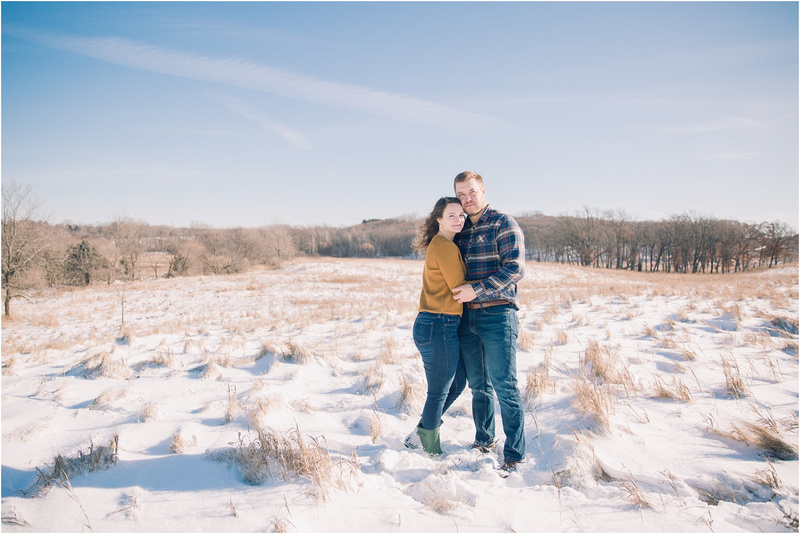 Snowy WInter Engagement Photography Ideas - Wisconsin Winter Engagement