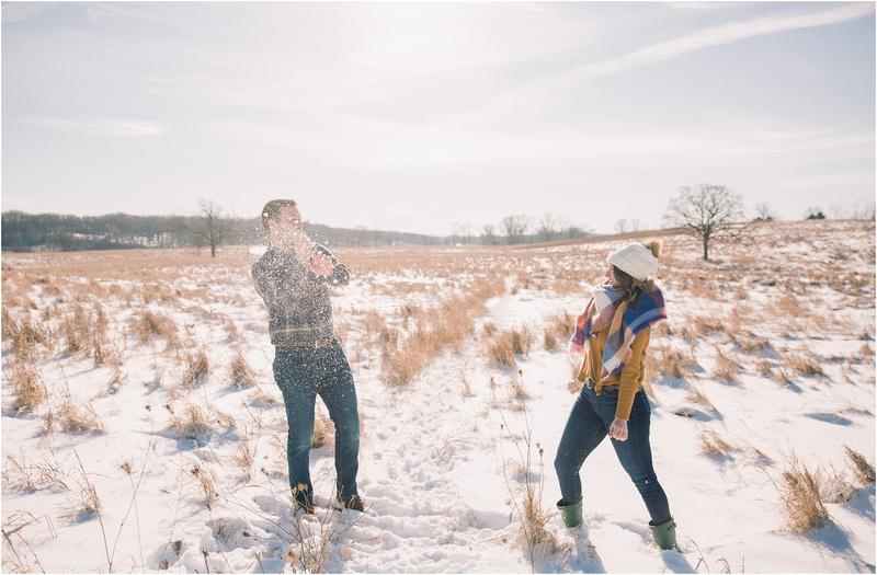 Winter Wedding - Winter Engagement - Wisconsin Winter - Winter Photography